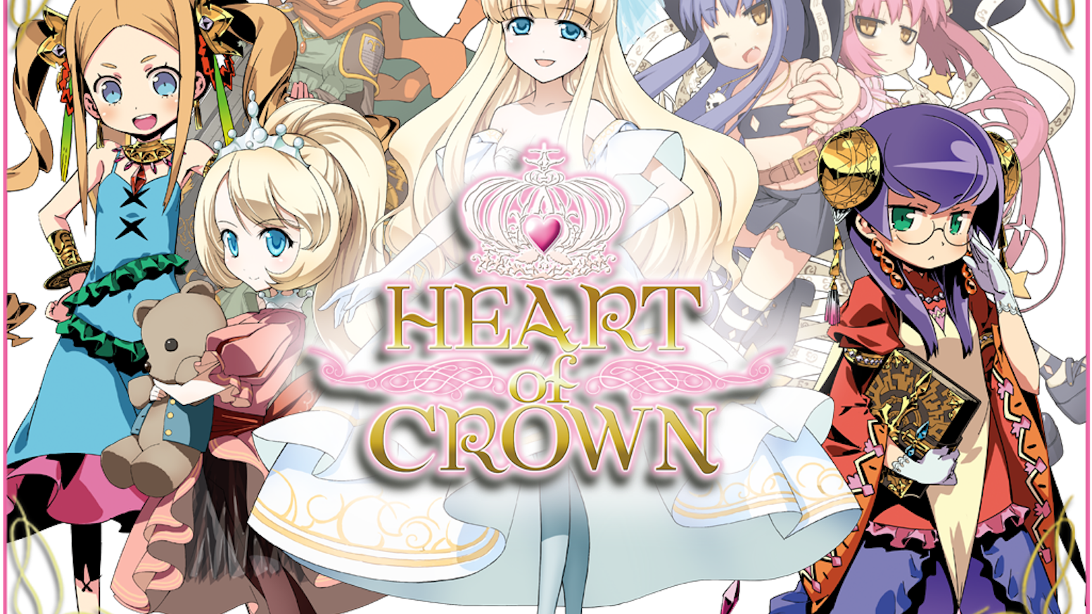 Heart of Crown is a deck building card game where players nominate and support a princess in a race to take the throne!