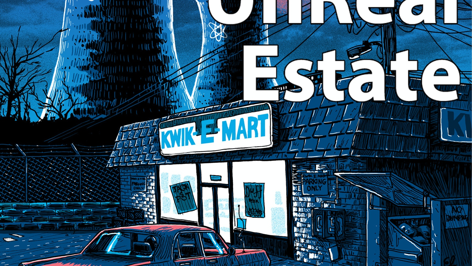 """A deluxe hardcover collection of """"UnReal Estate""""- the sold-out television-themed silkscreen pop-art prints by artist Tim Doyle."""