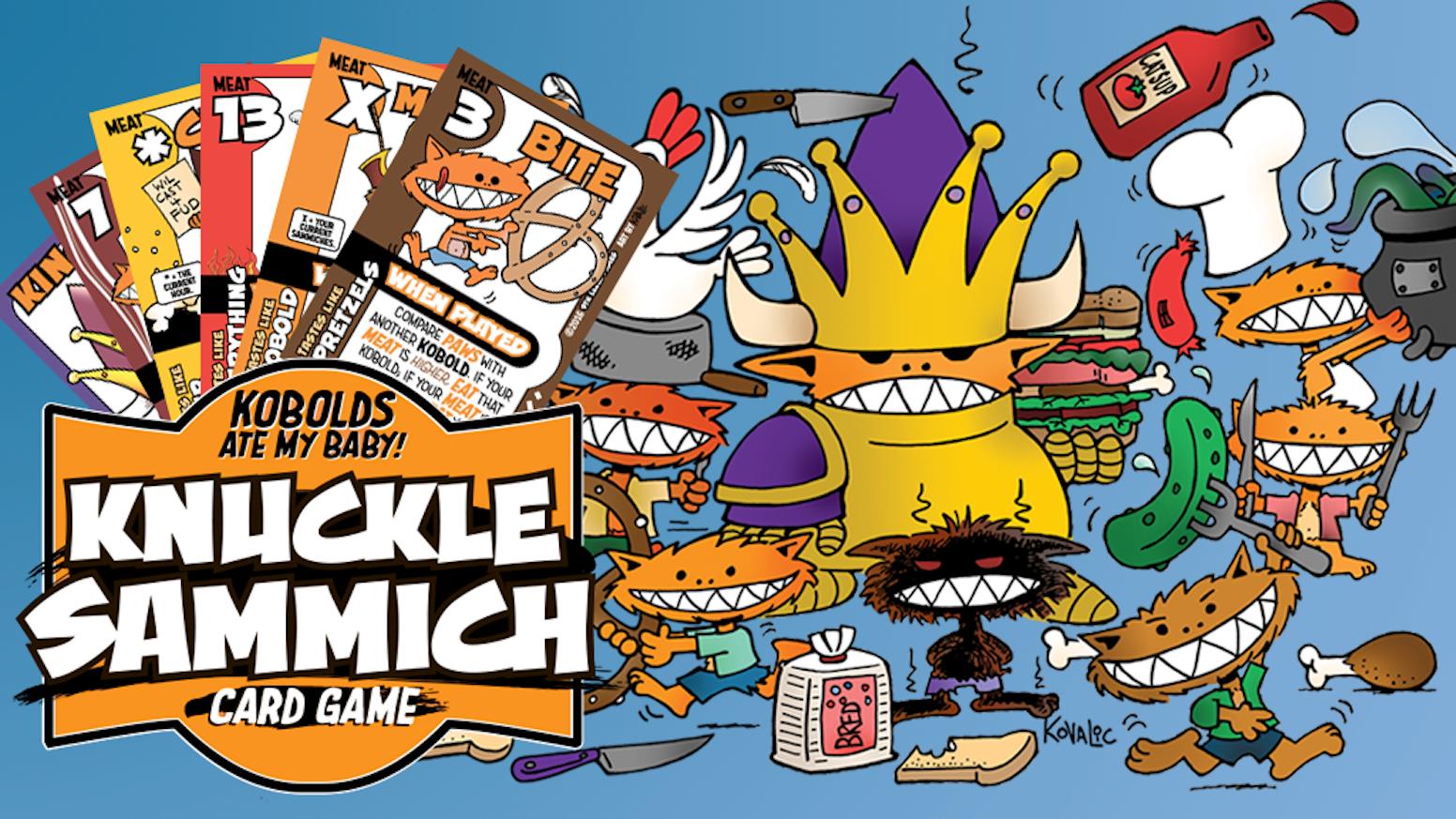 knuckle sammich kobolds ate my card game by 9thlevel kickstarter