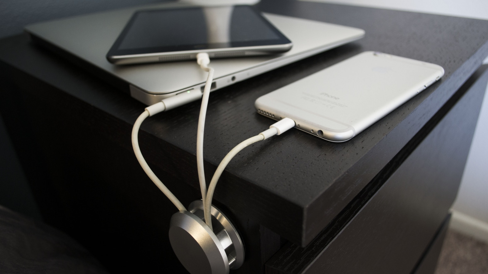 Keep device cords off the floor, Once and for all!