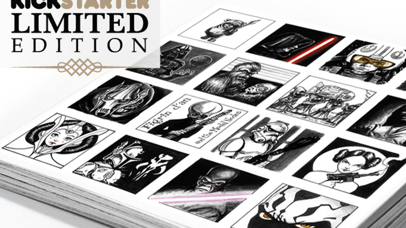 A tribute art book for Sci-fi lovers - Kickstarter Limited Edition. May the Ink be with you!