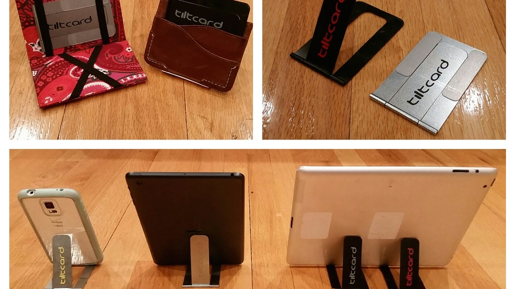 tiltcard iPhone/Phone/iPad/Tablet stand..that fits in wallet project video thumbnail