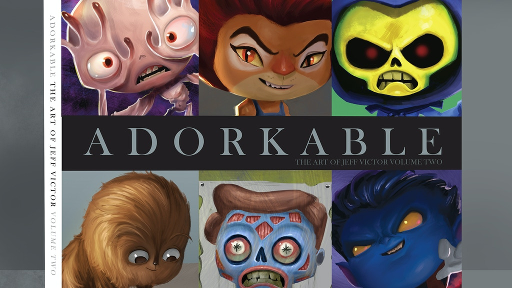 'Adorkable', The Art of Jeff Victor Art Book project video thumbnail