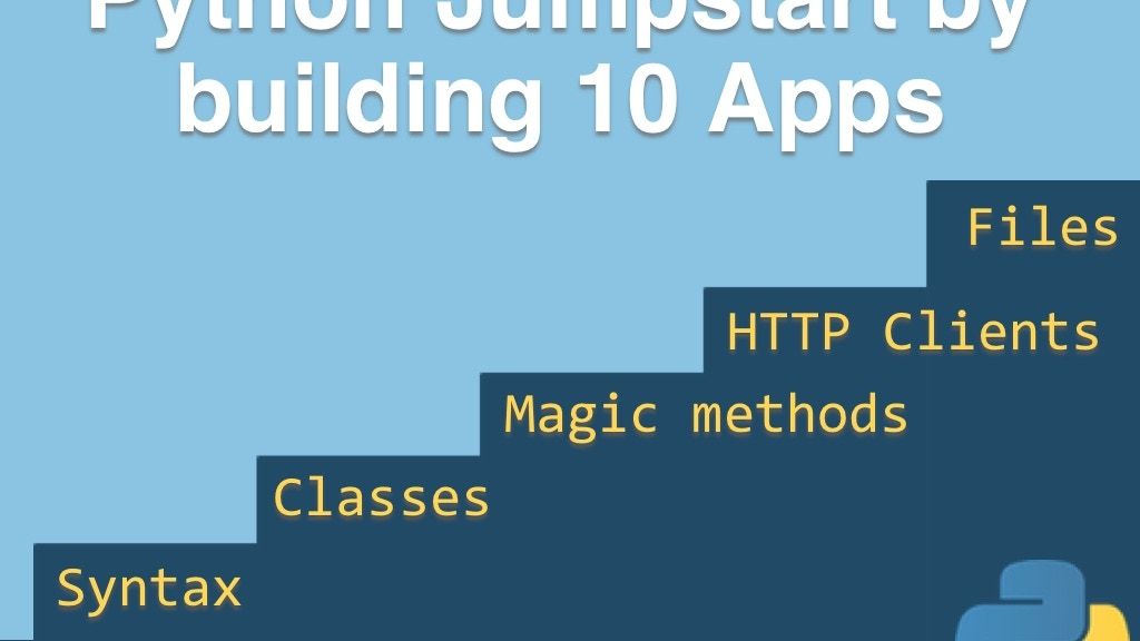 Python Jumpstart by Building 10 Apps [video course] project video thumbnail