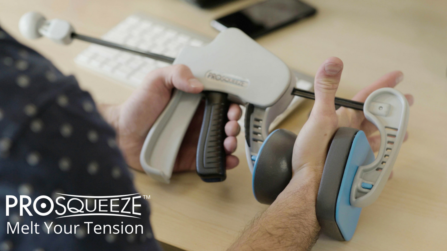 ProSqueeze is an innovative new self-massage tool designed for anyone who doesn't have the time or money to get a massage regularly.