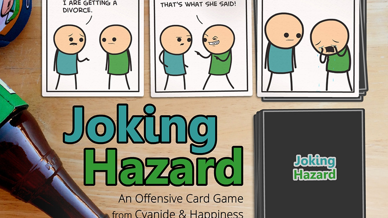 From the creators of Cyanide & Happiness comes a card game where players compete to finish an awful comic strip.