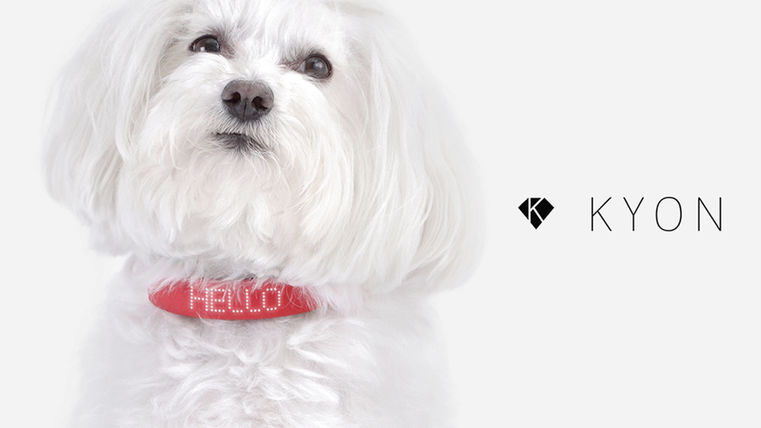 KYON is the first pet collar with embedded GPS technology and the  only one with LED display that makes communication with your pet even  easier.  You no longer have to guess what your pet is feeling.