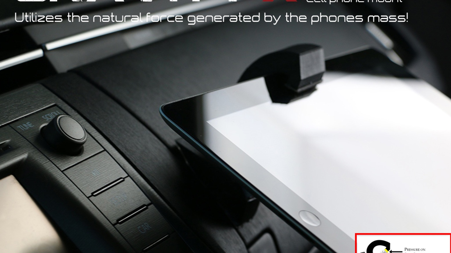 Gravity x car phone holder unlike anything on the market