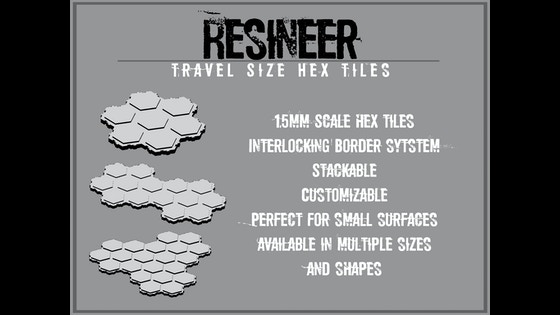 Track Resineer-15mm Size Hex Tile Wargaming Terrain