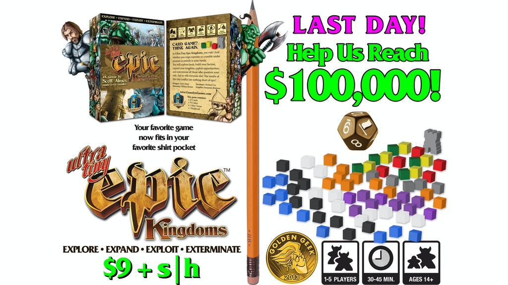 ultra tiny epic kingdoms board game in a card box by gamelyn games