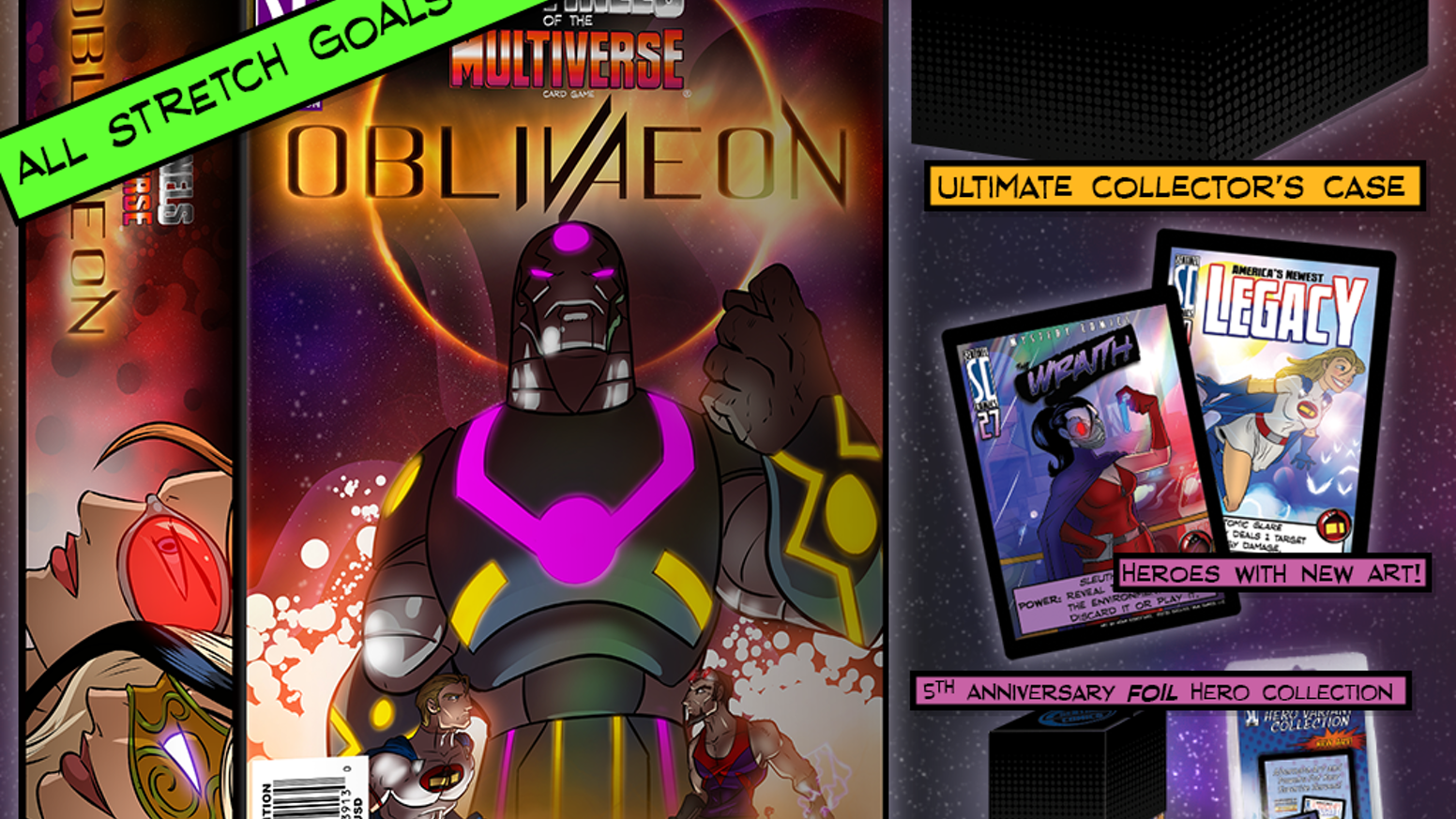 The end of the Multiverse! Featuring the final SotM expansion, packs of every variant card ever, and the Ultimate Collector's Case!
