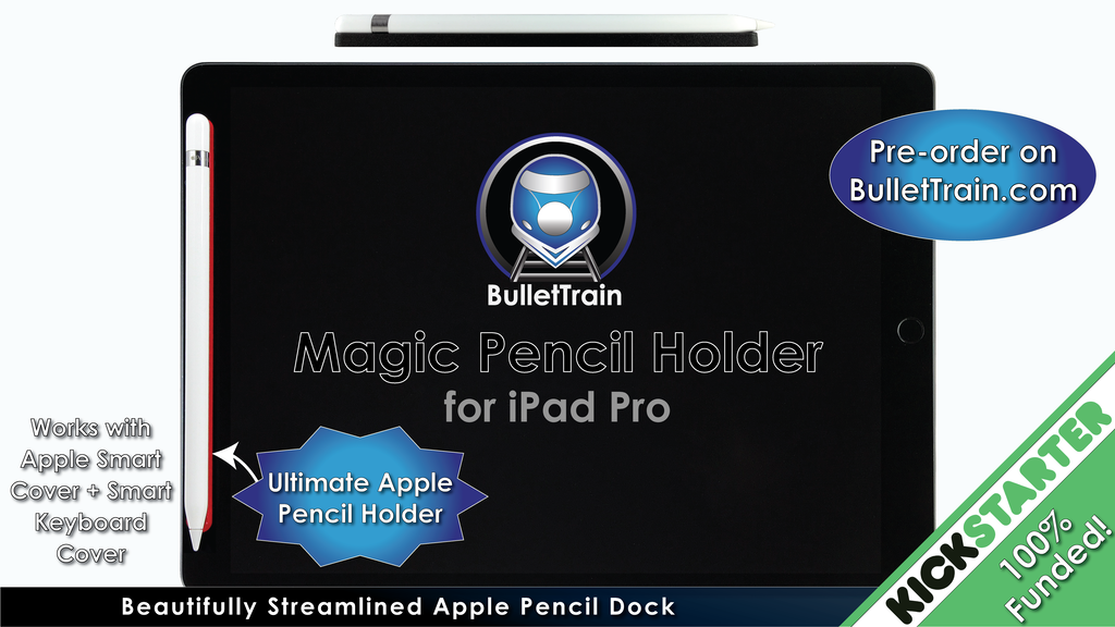 BulletTrain Magic Pencil Holder for Apple Pencil + iPad Pro project video thumbnail