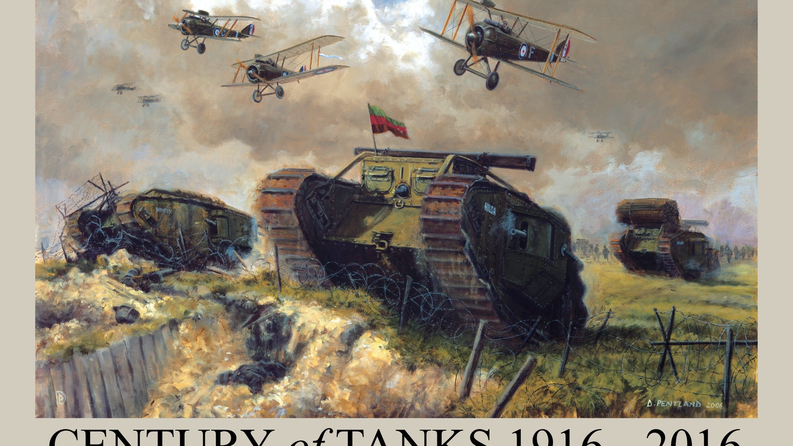 An illustrated history of the tank over the last 100 years told through the paintings and drawings of the artist David Pentland