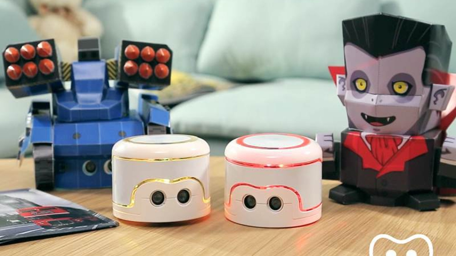 Kamibot is a programmable papercraft robot for kids. They can endlessly customize it with their own code and colorful skins.