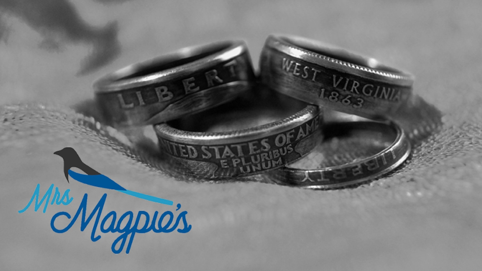 Beautiful rings crafted from U.S. coins by experienced artisans. Equally awesome for men and women. Help us fund our studio expansion!