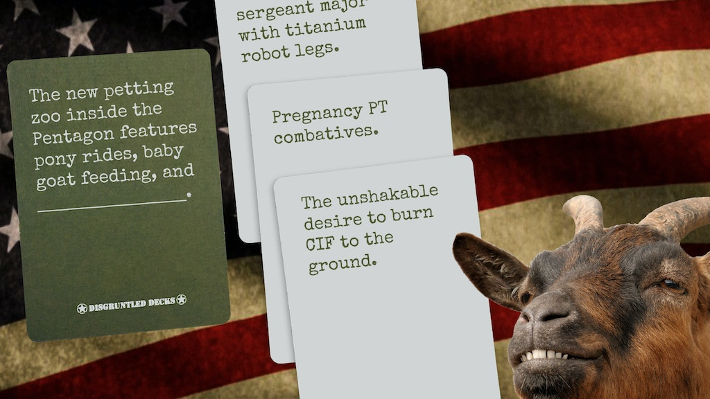The Original Card Game For Veterans. Disgruntled Decks can be played by itself or integrated with a Cards Against Humanity-style deck.