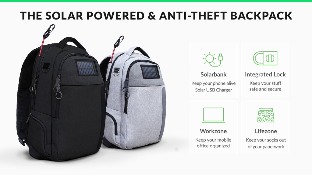 Lifepack: Solar Powered & Anti-Theft Backpack project video thumbnail