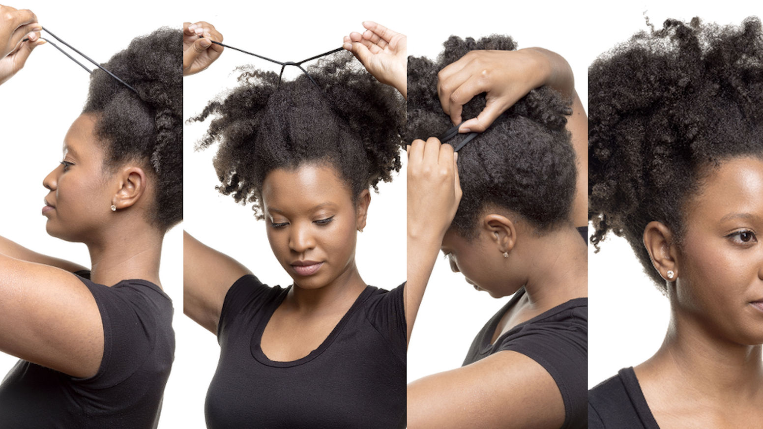 Create more than 50+ hair styles without the worry of damaging your hair or breaking your hairties