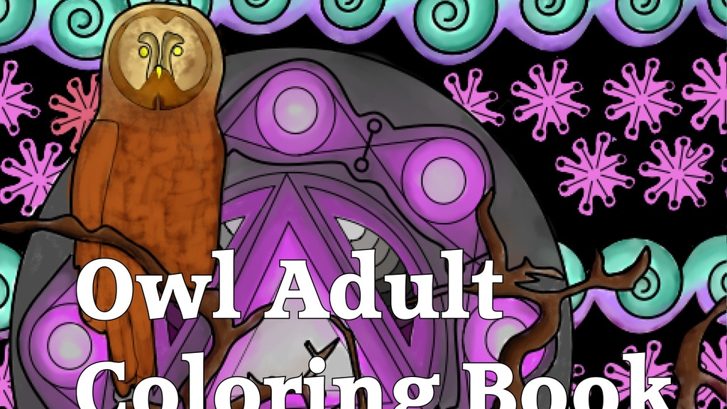 Project image for Owl Adult Coloring Book
