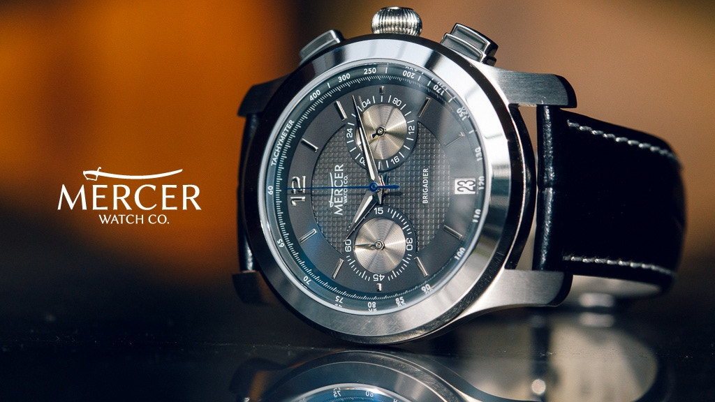 The Brigadier Chronograph by Mercer Watch Company project video thumbnail