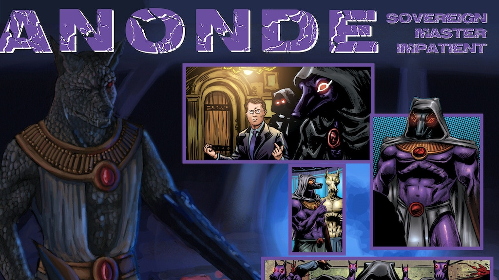 Anonde Character Card & New Electromagnate Graphic Novel project video thumbnail