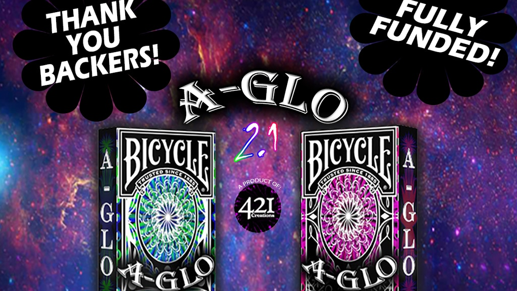 (Bicycle Brand) A-Glo: Ultra Violet Playing Cards project video thumbnail