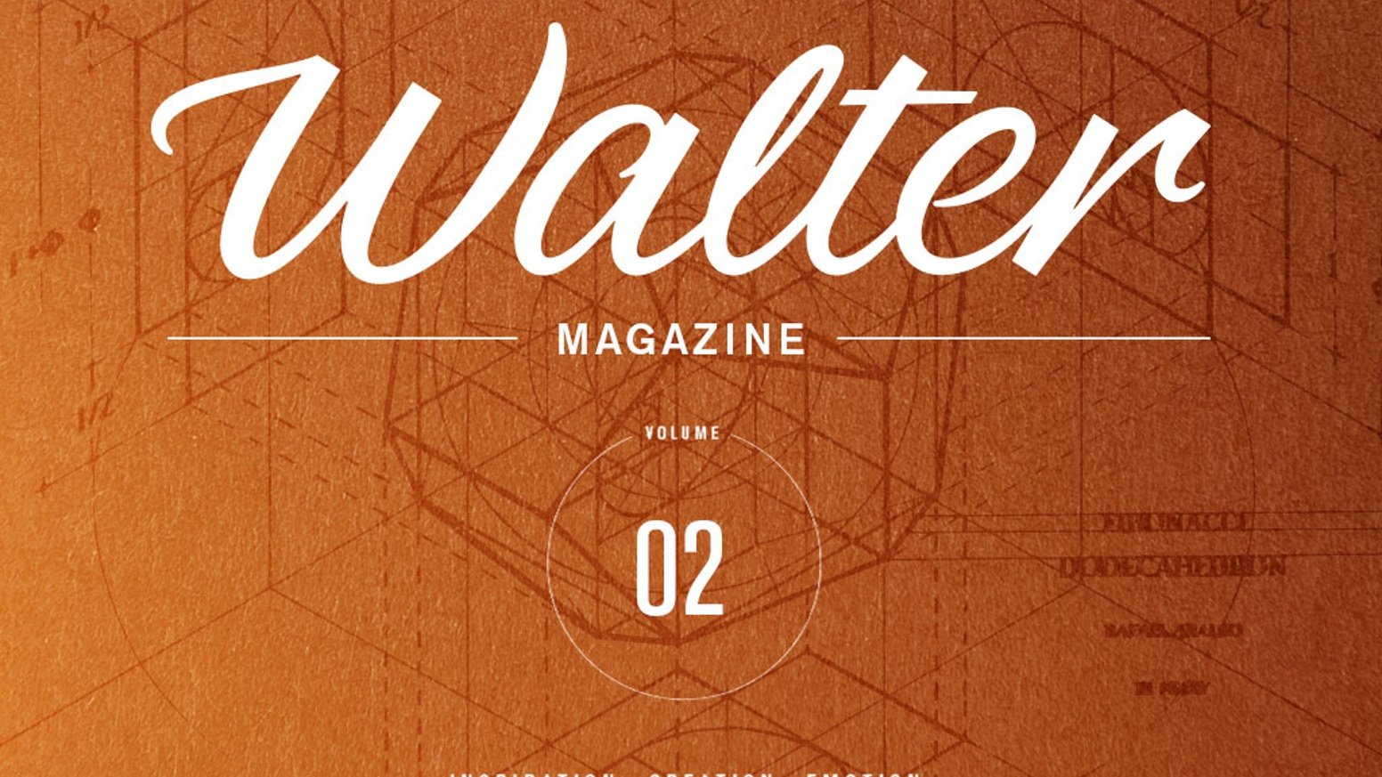 Walter is not a graphic design magazine, it looks at creativity, at aesthetic and functional research, regardless of time and place.