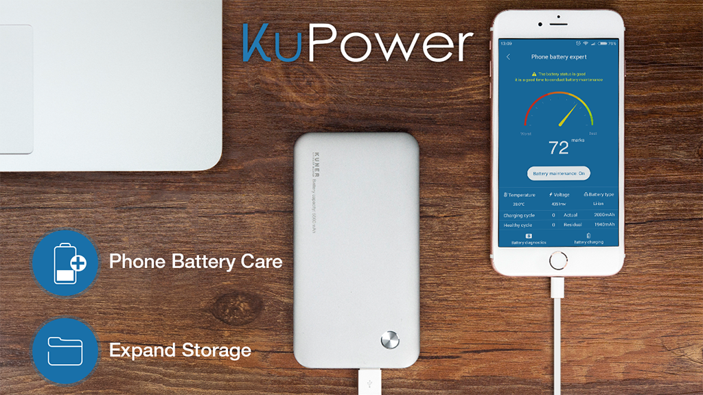KuPower - The most advanced PowerBank with Storage! project video thumbnail