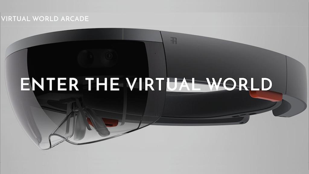 Virtual World Arcade - VR Gaming With HoloLens project video thumbnail