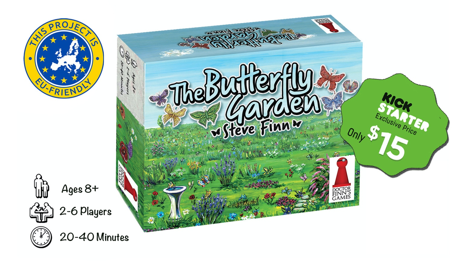 Catch beautiful butterflies in this quick, interesting, and artfully illustrated card game by the designer of Biblios.