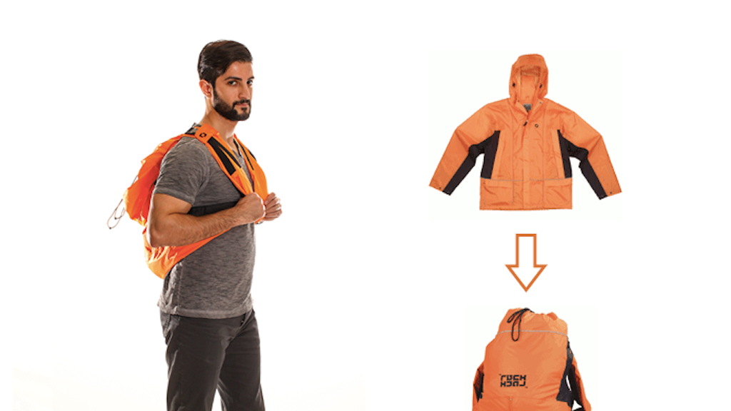 RuckJack, the convertible jacket | backpack. project video thumbnail