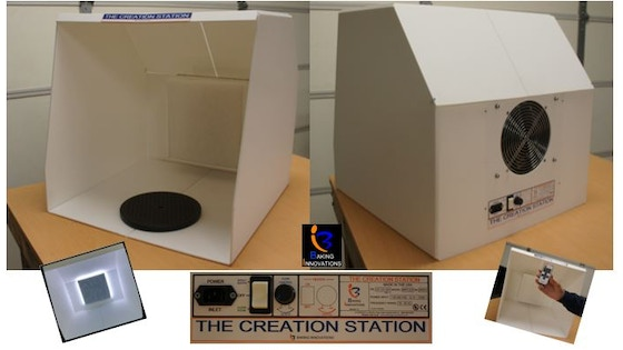 track the creation station portable ductless paint spray booth s