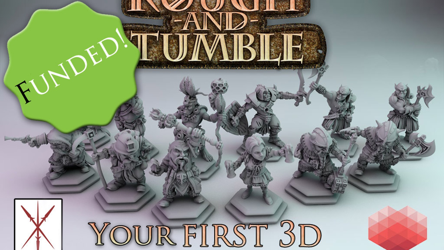 Rough-and-Tumble is a chess-like board game with 28 mm, 32mm or even bigger miniatures! Designed for your 3D printer