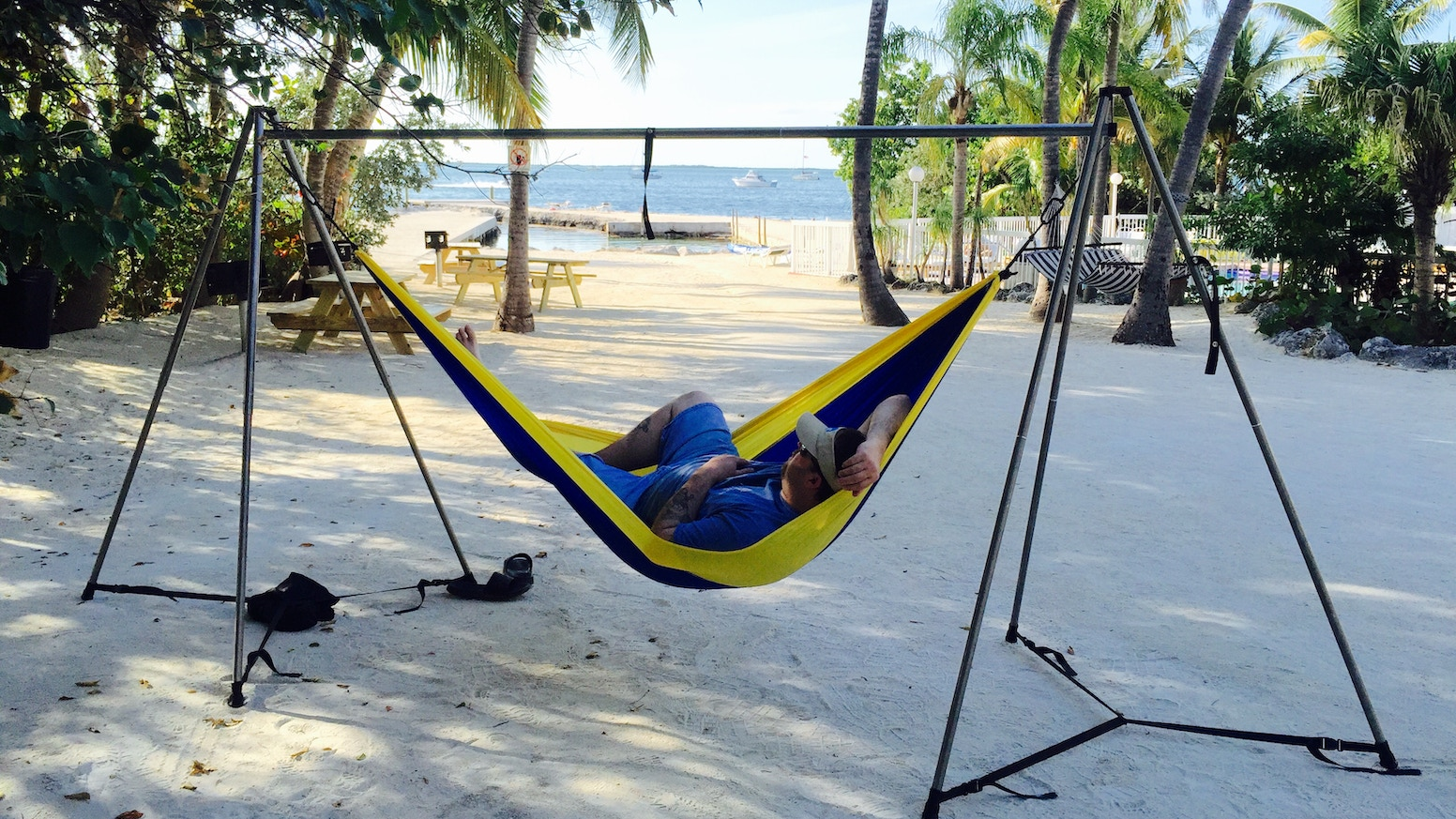You can Hammock Anywhere now with the worlds strongest, easiest and lightest portable hammock stand!We are continuing pre-sales on our website. Please click the link below.