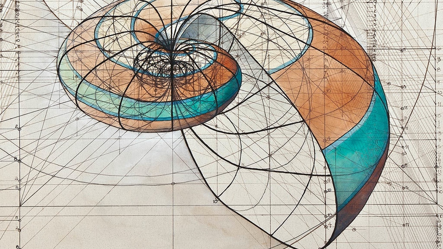 A coloring book with a collection of Rafael Araujo's hand drawn Golden Ratio illustrations to reconnect with yourself and nature