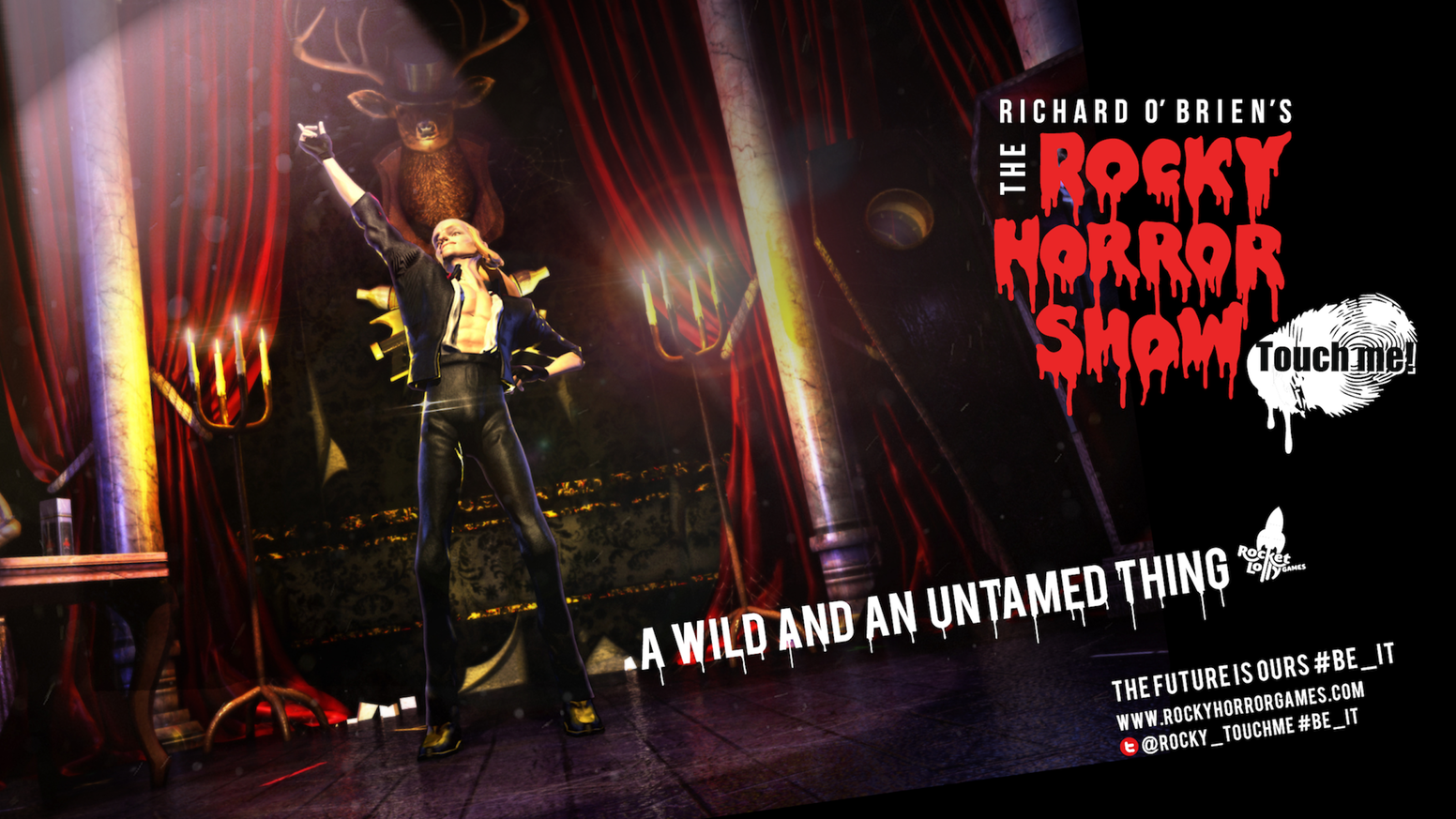 48f81bfcf7 The Official Richard O Brien s The Rocky Horror Show game with a  tantalizing twist on