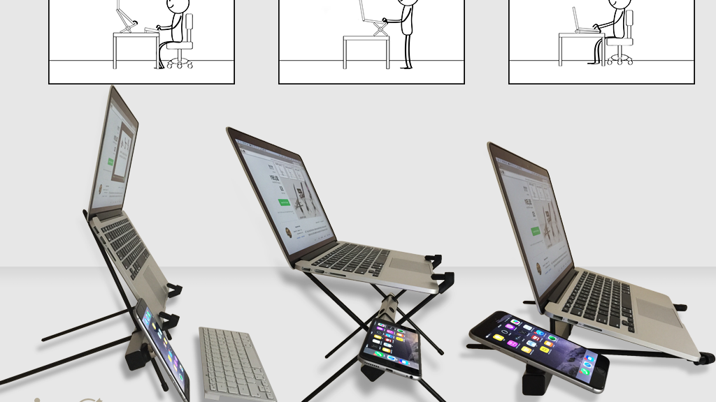 X STAND-Multi-functional Laptop, Tablet, Smartphone Stand. project video thumbnail