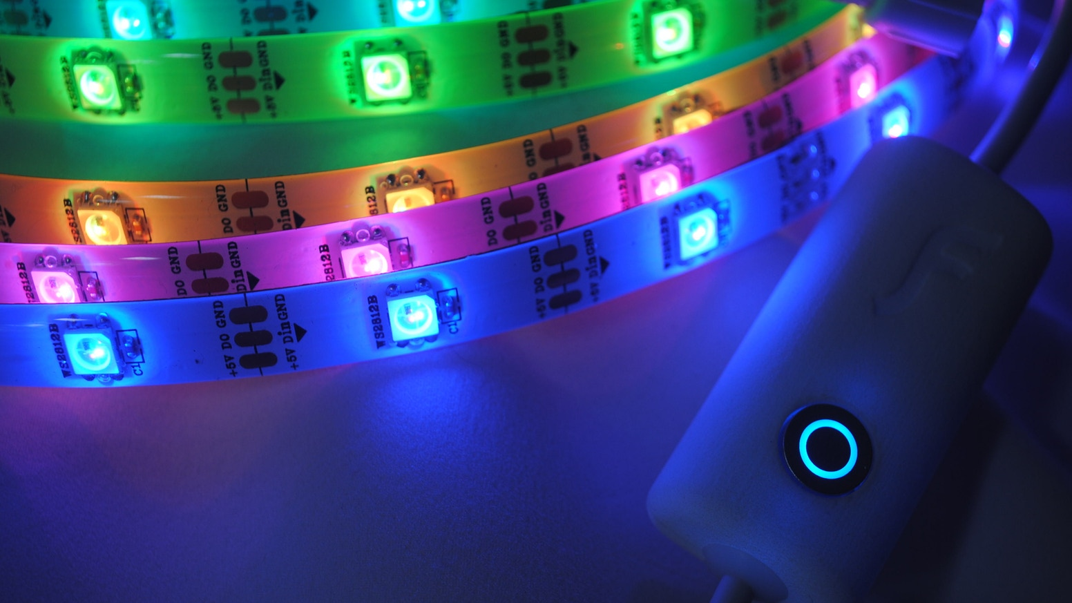 Flickerstrip the customizable home wi fi led light strip by dazzle your friends and guests with a personalized home light show browse popular patterns or aloadofball Images