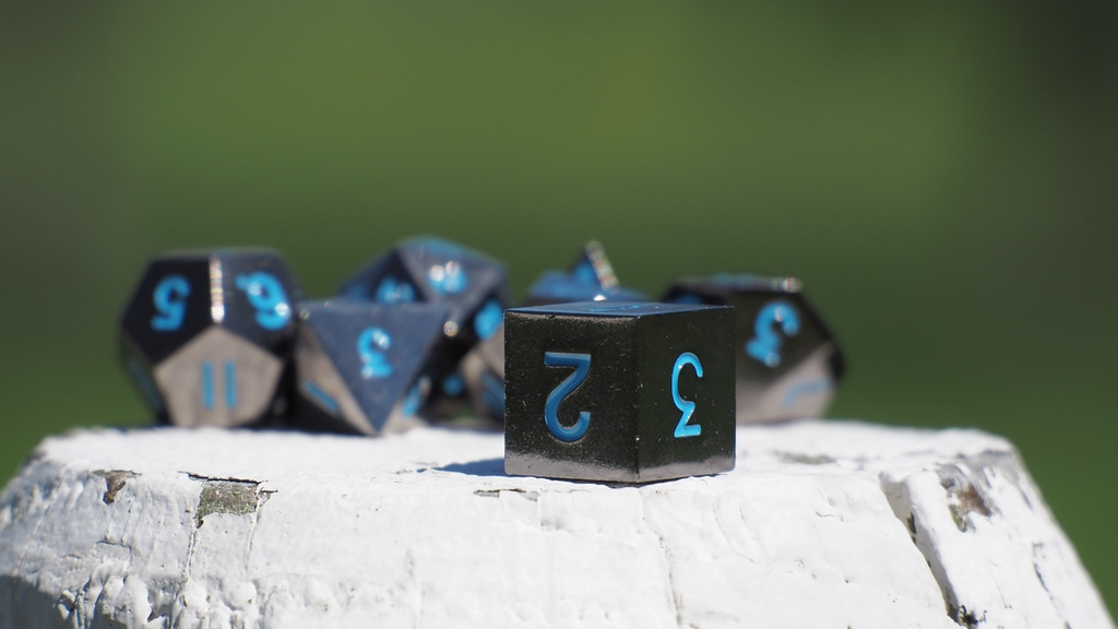Gunmetal Polyhedral RPG Dice In Complete Sets project video thumbnail
