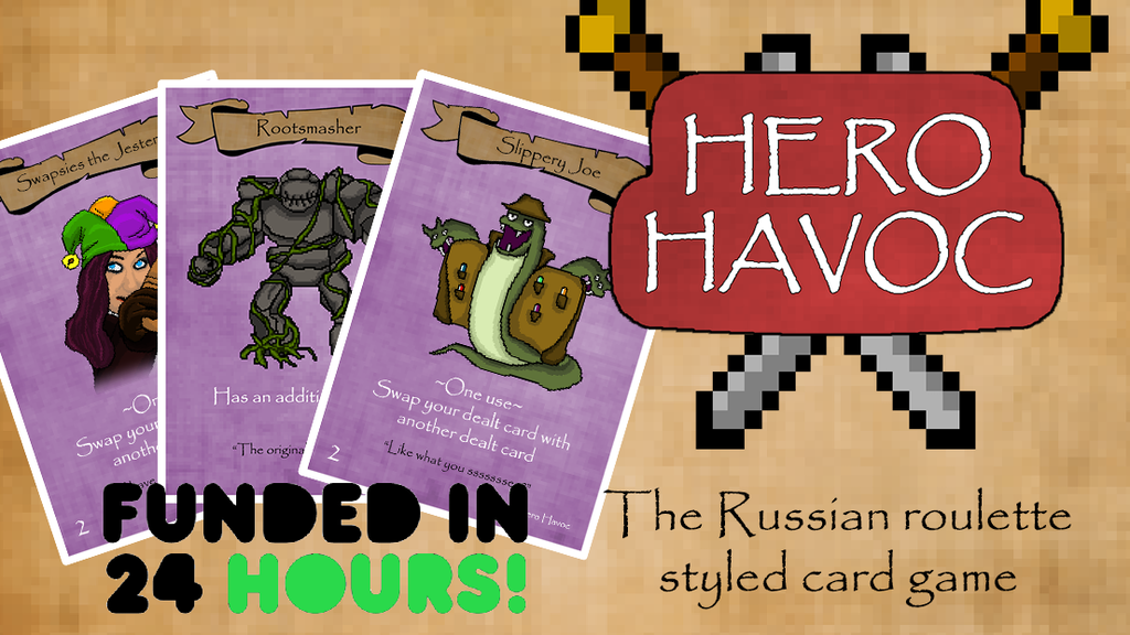 Hero Havoc - A Russian Roulette style party card game! project video thumbnail