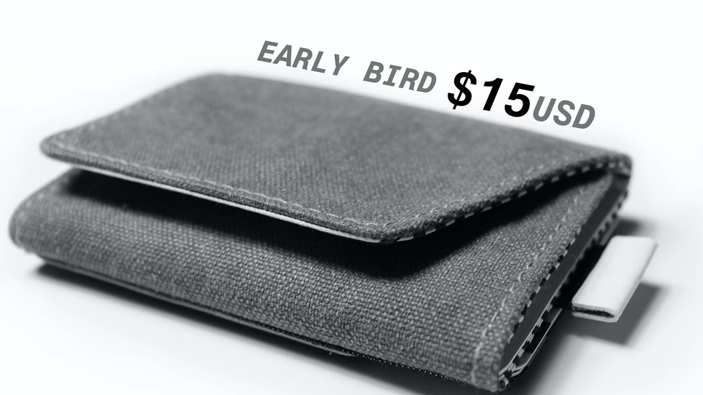 ZALLEX2.0: Canvas slim wallet for cards cash coin, with RFID project video thumbnail