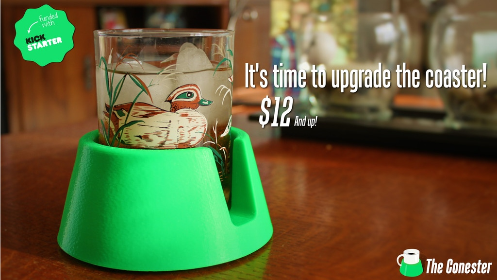 The Conester - The Cone Shaped Anti Spill Drink Coaster project video thumbnail