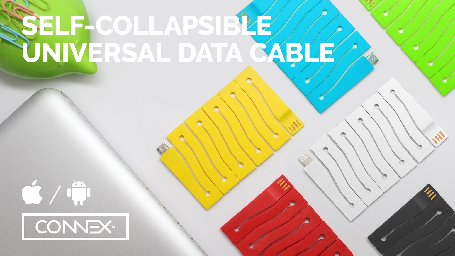 Modern, Functional and Fun, CONNEX is looking to change the cables that power our Devices (Compatible with Apple  OR Android)