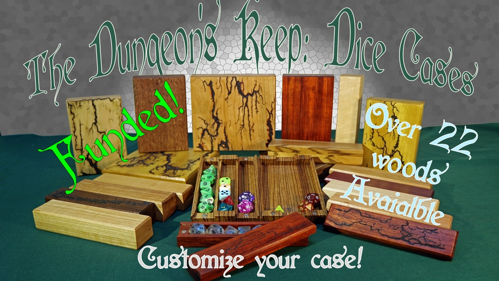 The Dungeons Keep, Wood Dice Cases for RPG tabletop gaming! project video thumbnail