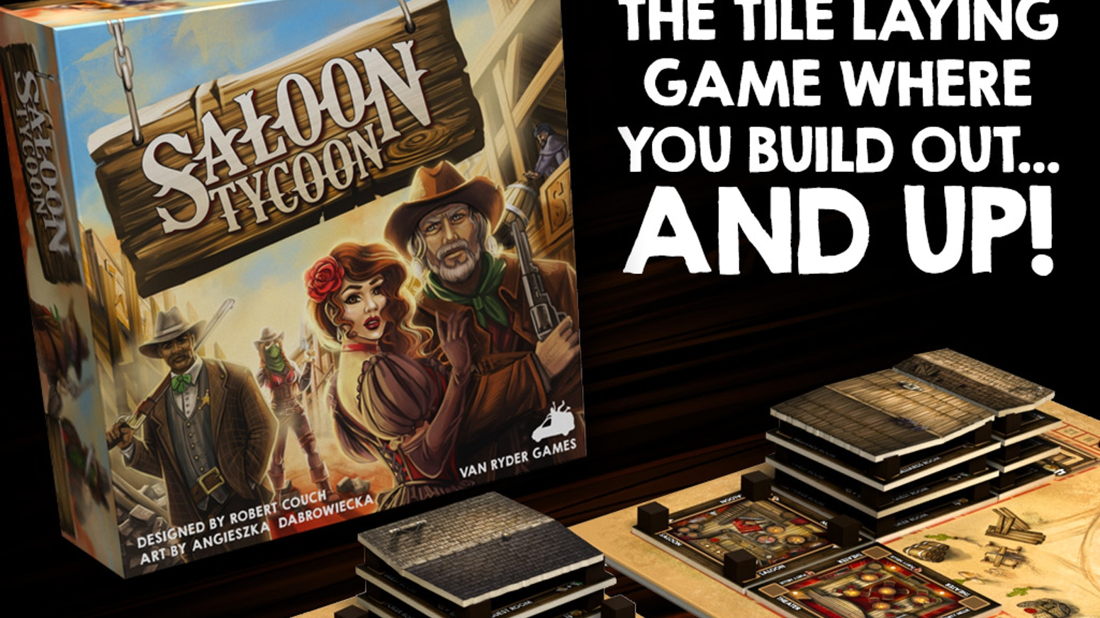 Yeee Hawww! The west is a boomin.' Get ready to claim your land and build the best Saloon in town.