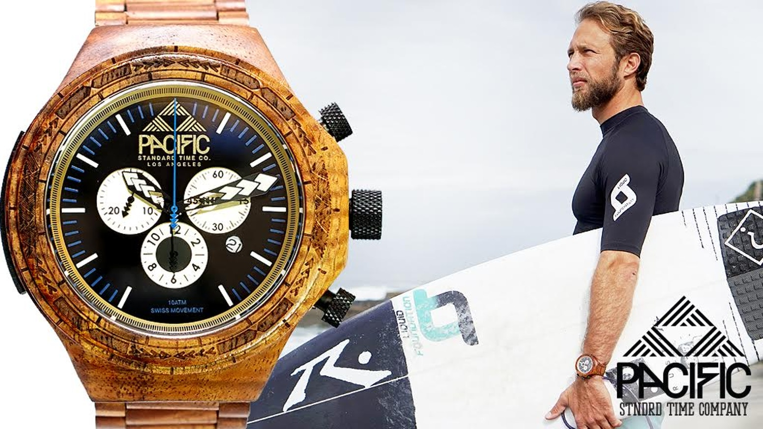 The first and only waterproof wooden watch capable of withstanding up to 100 meters depth!