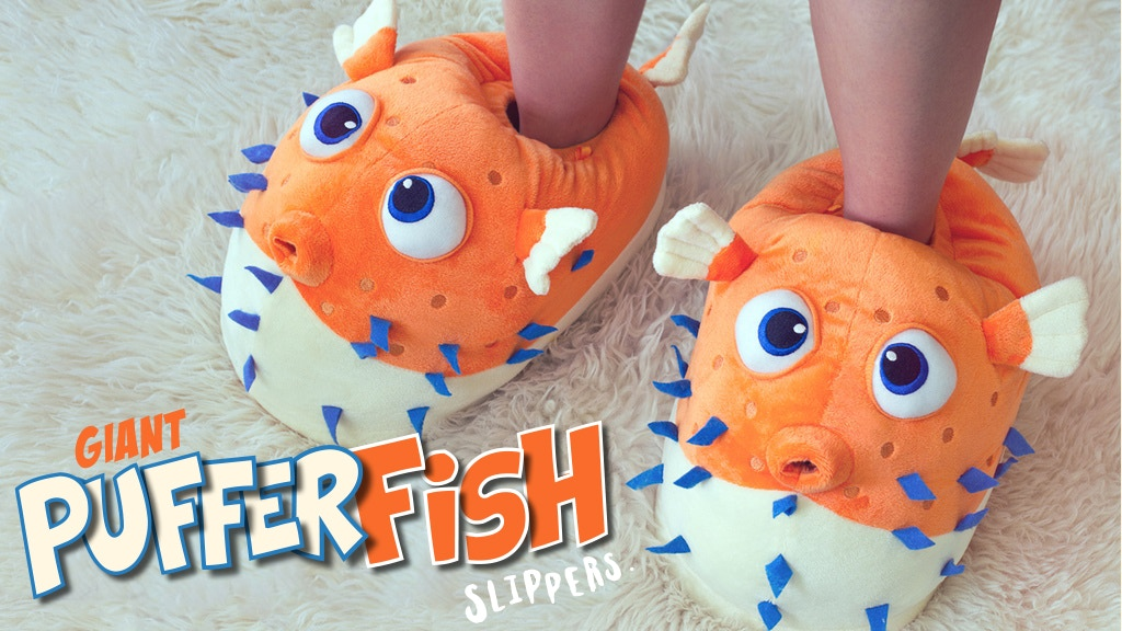 Giant Pufferfish Slippers project video thumbnail