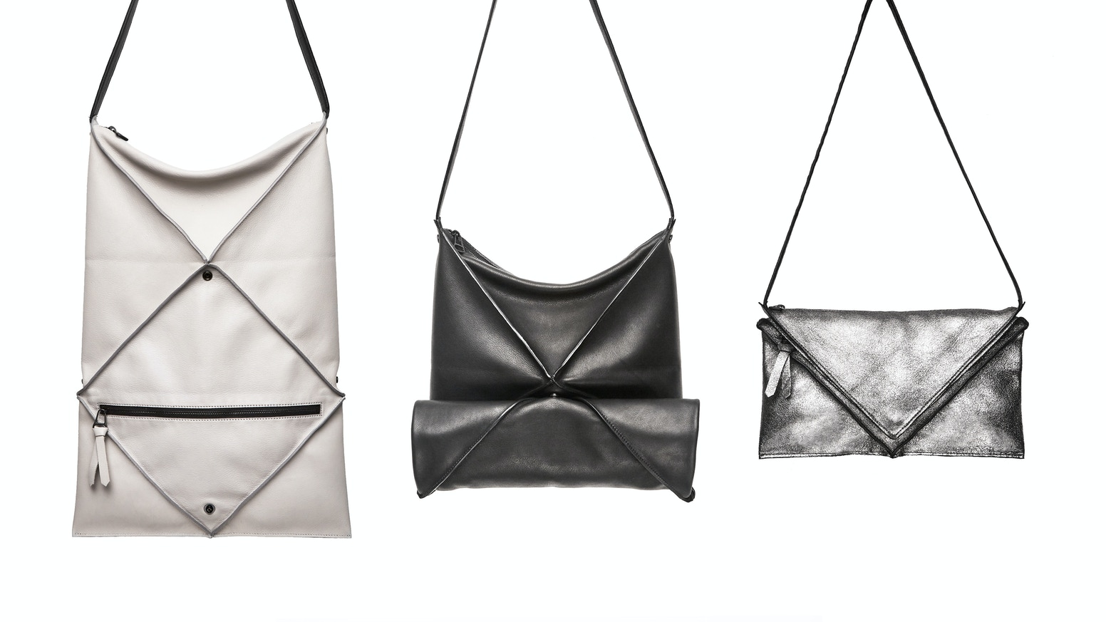 A Leather Bag That Transforms Into Three Functional Shapes According To Your Needs