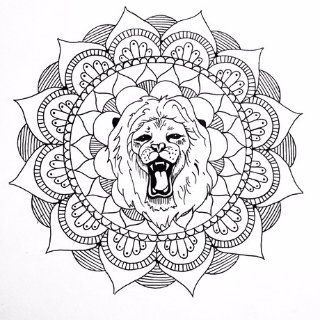Meditation and Hand Cramps, An Adult Coloring Book by