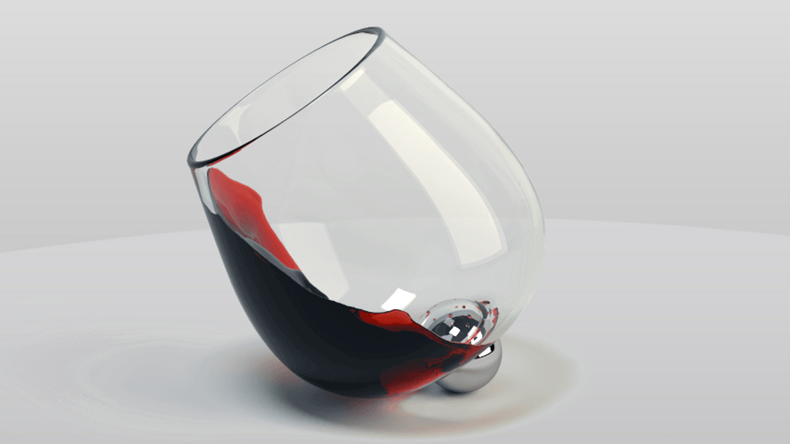A modern wine glass that is nearly impossible to knock over. Easy swirling aerates the drink by blending the aromas and flavors.